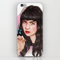 iPhone & iPod Skin featuring Grimes III  by Helen Green