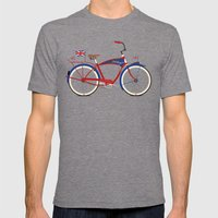 British Bicycle Mens Fitted Tee Tri-Grey SMALL