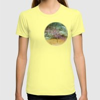 Laundry Line In Abstract… Womens Fitted Tee Lemon SMALL