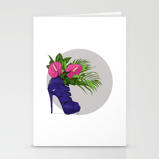 Thank you for flowers Stationery Card