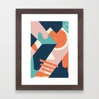 Galactic Pit Framed Art Print