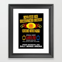 Cave & The Combustible L… Framed Art Print