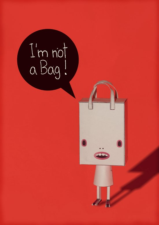 I'm not a bag! Art Print