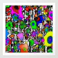 Graphic forest Art Print