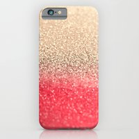 iPhone Cases featuring GOLD CORAL by Monika Strigel
