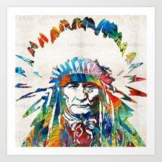 Native American Art - Ch… Art Print