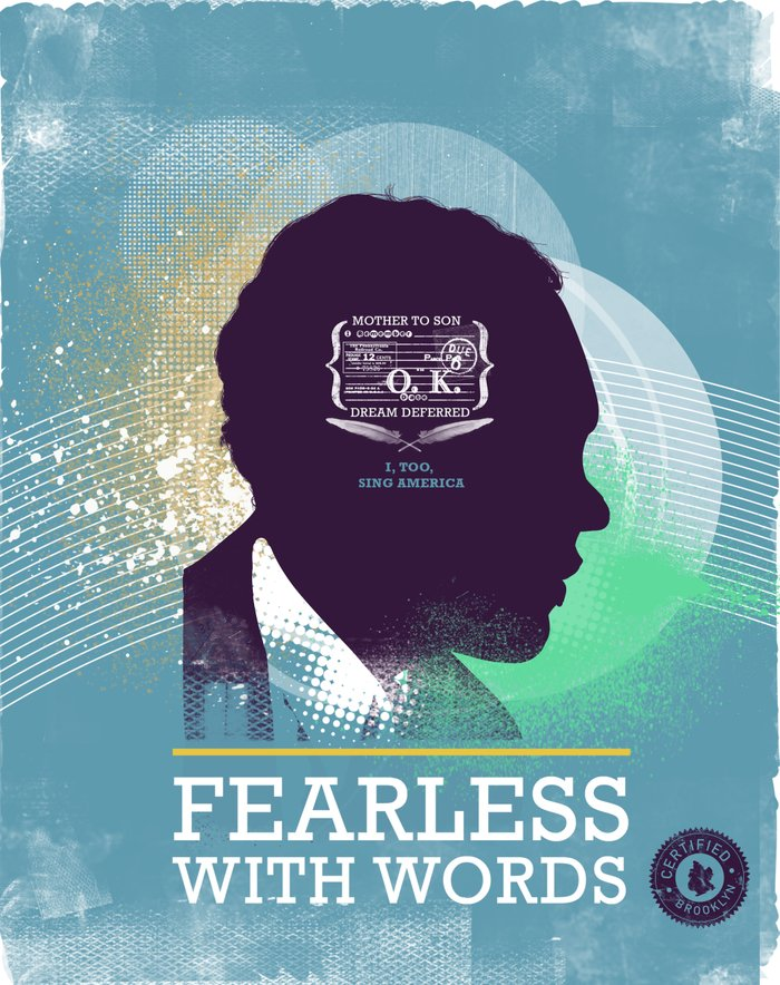 FEARLESS: With Words - L. Hughes Canvas Print by Adrian ...