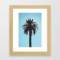 Palm Tree Silhouette Framed Art Print