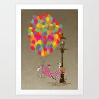 Love To Ride My Bike Wit… Art Print