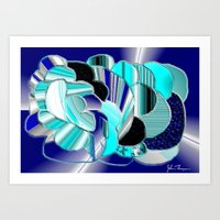 Blueness Art Print