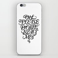Please Don't (white Vers… iPhone & iPod Skin