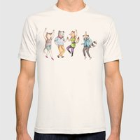 Party Animals Mens Fitted Tee Natural SMALL