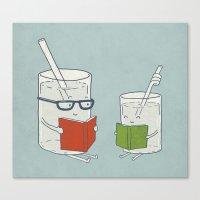 Reading Glasses Canvas Print