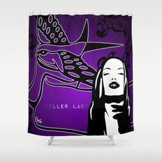 KILLER LADY PURPLE Shower Curtain