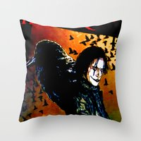 The Crow - Colored Sketch Throw Pillow