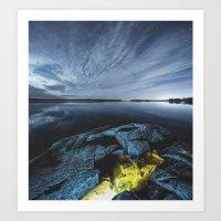 Lagoon of Light Art Print