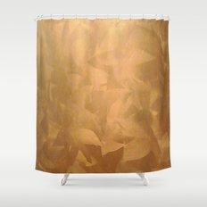 Brushed Copper Metallic Shower Curtain