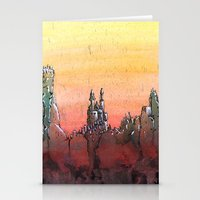 Mountain Stronghold Stationery Cards