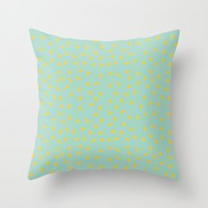 Yellow Pit on Mint /// www.pencilmeinstationery.com Throw Pillow