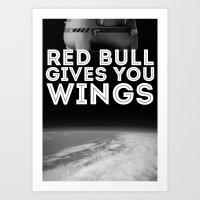 Felix Baumgartner Wings Art Print