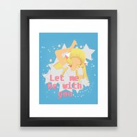 Let Me Be With You Framed Art Print