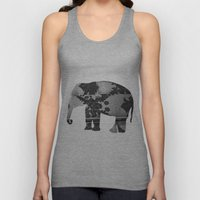 Elephant (The  Living Things Series)  Unisex Tank Top