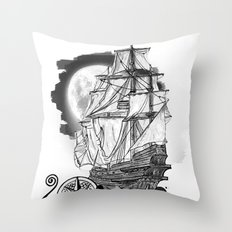 The sea route to the moon Throw Pillow