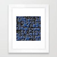 Blue blocks Framed Art Print