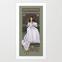 Art Print featuring Theatre de la Labyrinth by Karen Hallion Illustrations
