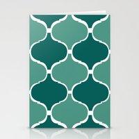 Marrakech Pattern Dark G… Stationery Cards