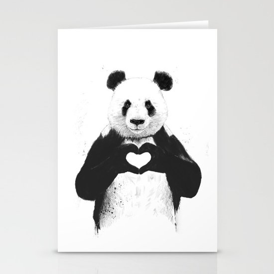 All you need is love Stationery Card