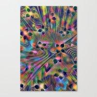Floral Fractal Canvas Print