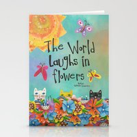 The World Laughs In Flow… Stationery Cards