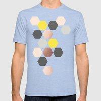 Art Rhombus Mens Fitted Tee Tri-Blue SMALL