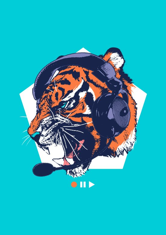 DJ Wildcats Art Print