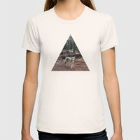 Injured Coyote Womens Fitted Tee Natural SMALL
