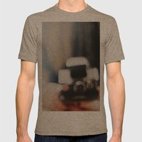 polaroid. Mens Fitted Tee Tri-Coffee SMALL