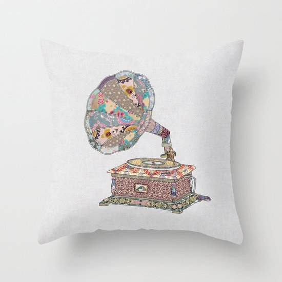 SEEING SOUND Throw Pillow