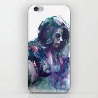 Melancholy Mood Portrait iPhone & iPod Skin