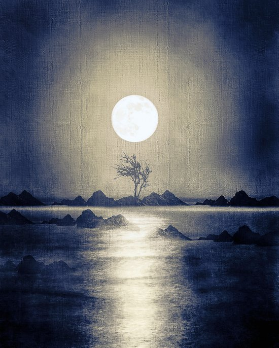 When the moon speaks (part III) colour option Art Print