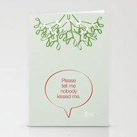 Under the mistletoe Stationery Cards
