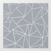 Abstract Dotted Lines Gr… Canvas Print