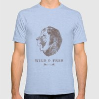 WILD & FREE Mens Fitted Tee Athletic Blue SMALL