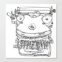 Typewriter Face Canvas Print