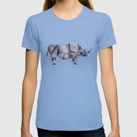 Rhinogami Womens Fitted Tee Tri-Blue SMALL