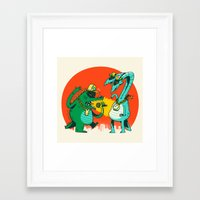 Kaiju Rap Battle Framed Art Print