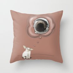I Want To Be An Astronaut Throw Pillow