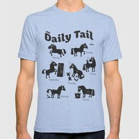The Daily Tail Horse Mens Fitted Tee Tri-Blue SMALL