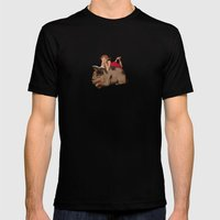 Sleeping & Reading Mens Fitted Tee Black SMALL