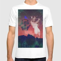 False Colored Eyes Mens Fitted Tee White SMALL